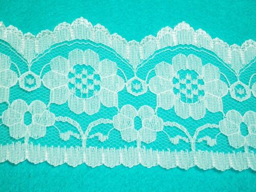 5 Metre length of Ivory single edge lace Approx.68mm or 6.8cm width