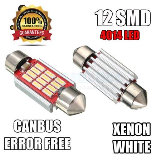 VW Bora Xenon Pure White 6000k LED License Number Plate Light Bulbs Error Free