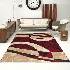 salon-Tapis-joli-motif-Beaucoup-De-Couleurs-variantes-Tapis-design-en-rouge