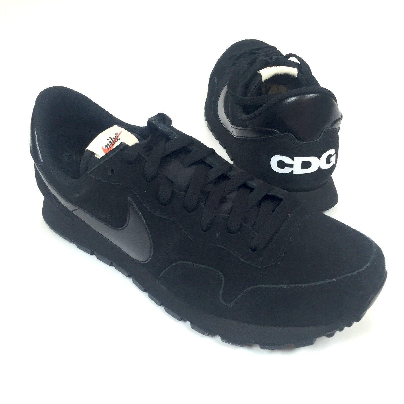 Comme des garcons cdg nero nwt nike air pegasus 83 uomini scamosciato scarpe autentico