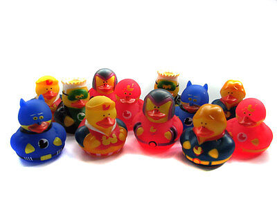 Superhero Rubber Ducks x12 Super Hero Action Party Bag