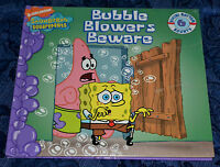Spongebob Squarepants bubble Blowers Beware Child Book 2007 Free Shipping