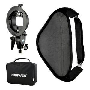 Neewer-Softbox-60x60mm-Difusor-con-S-Tipo-Soporte-Mount-de-Flash-Speedlite-Foto