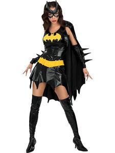 Adult-Licensed-Batgirl-Fancy-Dress-Costume-Superhero-Sexy-Ladies-Batman-BN