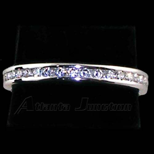 2MM CHANNEL SET ROUND CLEAR CZ ETERNITY WEDDING BAND/_SIZE-7/_/_925 STERLING SILVER