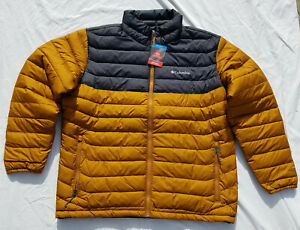 "New Mens Columbia /""Powder Lite/"" Puffy Omni-Heat Winter Jacket Coat"