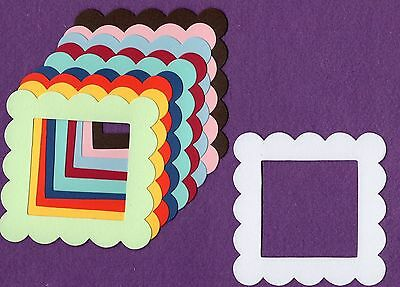 FRAME SQUARE SCALLOPED die cuts scrapbook cards
