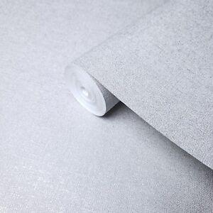 Wallpaper-grey-silver-metallic-plain-faux-sack-cloth-Textured-wall-coverings