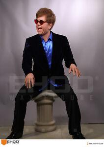 Life Size Elton John Music Star Singer Pose Statue Realistic Prop Display 1:1