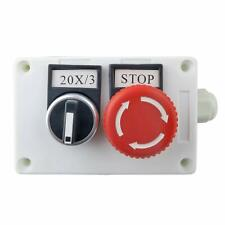 Plastic Shell Emergency Stop Red Mushroom Push Button Switch Station 1nc 1no