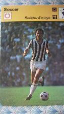 RARE rencontre Sportscaster CARD CALCIO footballroberto BETTEGA