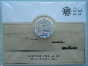 2014-UK-20-20-Pound-Fine-Silver-Coin-Outbreak-of-the-First-World-War