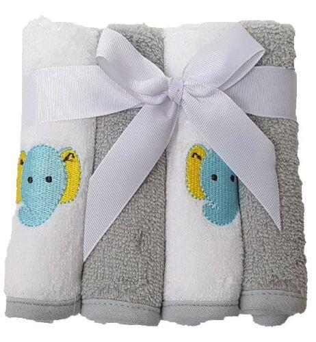 Grau Waschtücher 4er pack Baby Waschlappen Handtücher 100/% Baumwolle 4stück