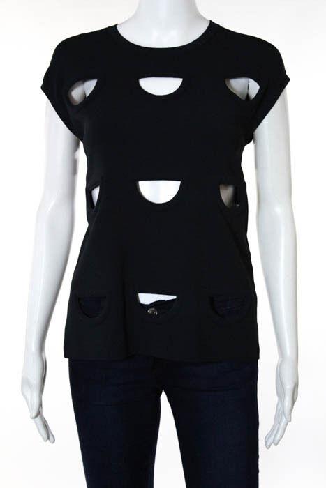 Stella McCartney Blau Sleeveless Cut Out Knit Top Größe FR 40 New 118760