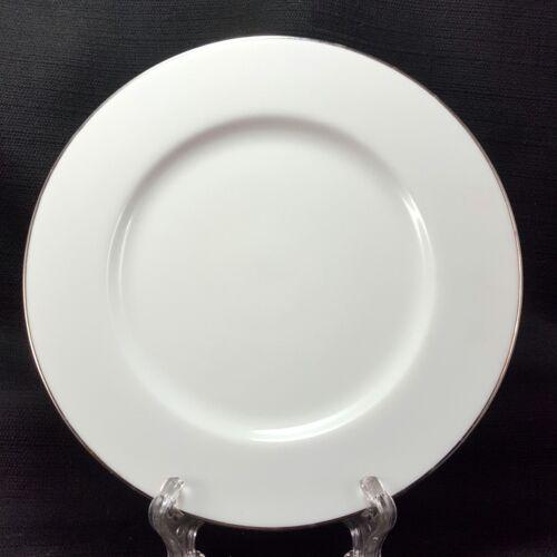 "Royal Doulton Simply Platinum Salad Plates Set of 2 White 7-5//8/"""