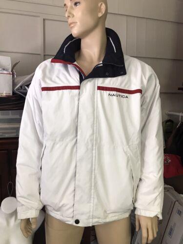 Men's White Nautica Men's Winter Jacket, Cotton, P