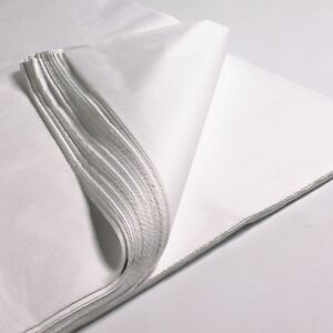 """200 x SHEETS OF WHITE TISSUE WRAPPING PAPER SIZE 450 X 700MM 18 X 28"""""""