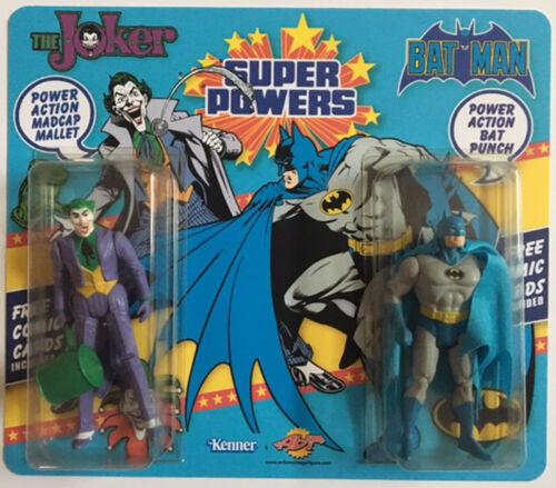 Carte * Super Powers avec carte double personnalisée Batman & Joker Moc Custom Mint *