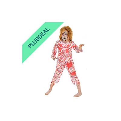 blutiges Zombie Girl Schlafanzug Pyjama Kostüm blutig für Mädchen Gr. 122-164