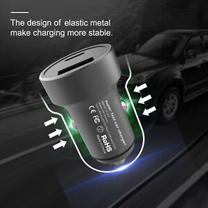 Dual-Ports-USB-Type-C-PD-Car-Charger-Adapter-Max-60W-For-Iphone-iPad-Samsung