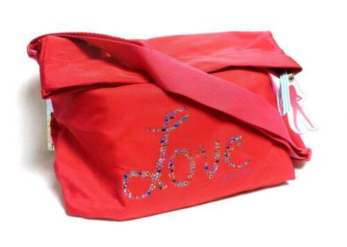 Depesche 8412 Top Model Schultertasche Love neon pink Tasche Mädchen Glitzer