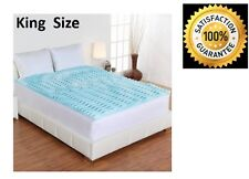 """Memory Foam Mattress Topper Orthopedic 5-Zone Gel 2"""" Bed Pad Cover King Size"""