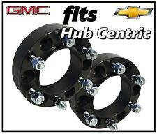 "2 Pc Truck Silverado 1500 1.25"" Black Hub Centric Wheel Spacers Adapters 14x1.5"