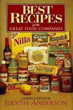 Best Recipes of the Great Food Companies by Judith Anderson (1997, Hardcover)