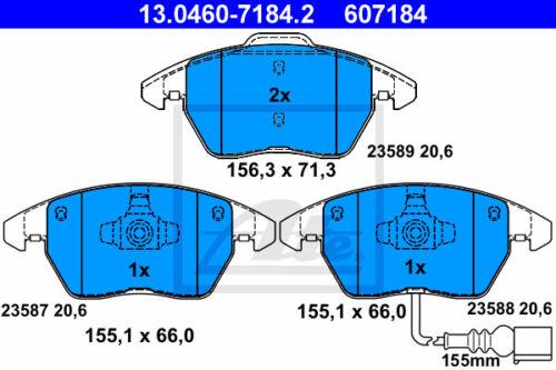 VA ATE Powerdisc Bremsscheiben für SEAT ALTEA XL Beläge Vorderachse 5P5, 5P8