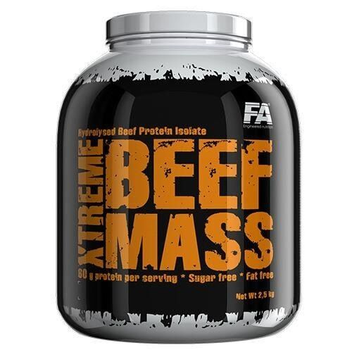 FA NUTRITION FITNESS AUTHORITY XTREME BEEF MASS 2.5kg ISOLATE HYDROLYZED