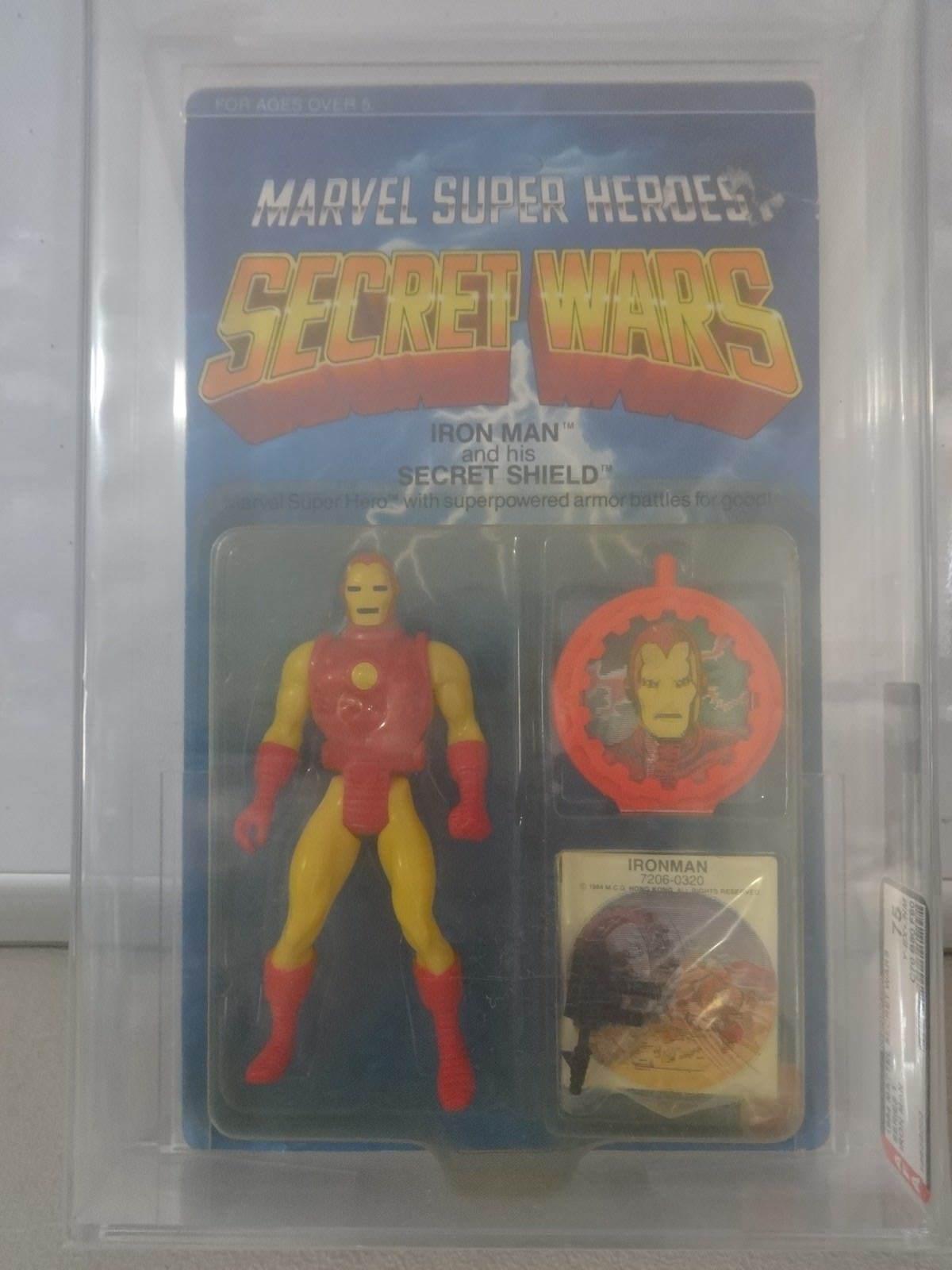 Vintage Mattel 1984 Secret Wars Iron Man AFA Graded 75 Y-EX+ NM C70 B80 F90