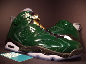 Nike Air Jordan VI 6 Retro CHAMPIONSHIP CHAMPAGNE PINE GREEN RED GOLD BLACK 10.5