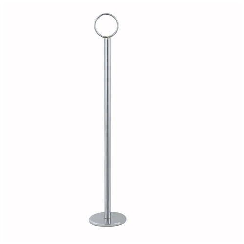 12-Inch High Stainless Steel Table Number Card Holder Winco TBH-12