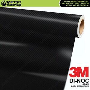 3M-DI-NOC-BLACK-CARBON-FIBER-Vinyl-Sheet-Flex-Wrap-Film-Roll-Adhesive-CA-421
