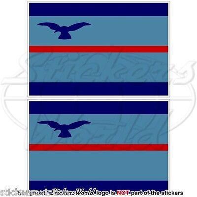 "Decals x2 Vinyl Bumper Stickers GIBRALTAR Civil Ensign Flag 75mm 3/"""