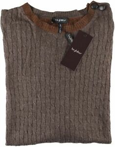 Nwt Brown Sweater Byblos Cavi Girocollo Reaven Italy Luxury L rga1qwrx