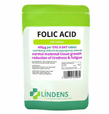 Folic Acid 400mcg 240 Tablets The Healthy Pregnancy Vitamin One a Day Vegetarian
