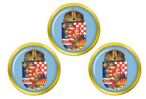 Hongrie-Royal-Crest-1915-Marqueurs-de-Balles-de-Golf