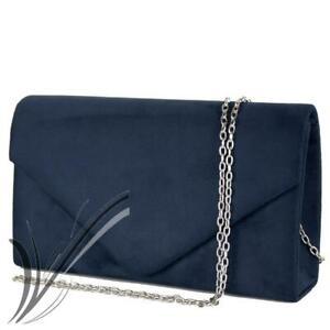 e060af1507 Caricamento dell'immagine in corso Pochette-blu-cerimonia-scamosciata-clutch -elegante-borsetta-da-