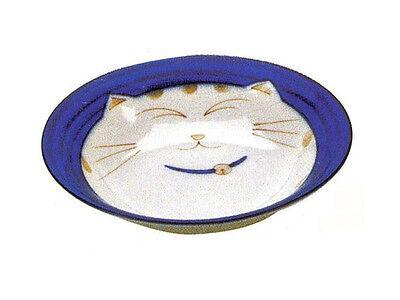 """2 PCS Japanese 6.5""""D Porcelain Plate Maneki Neko Welcome Lucky Cat Made in Japan"""