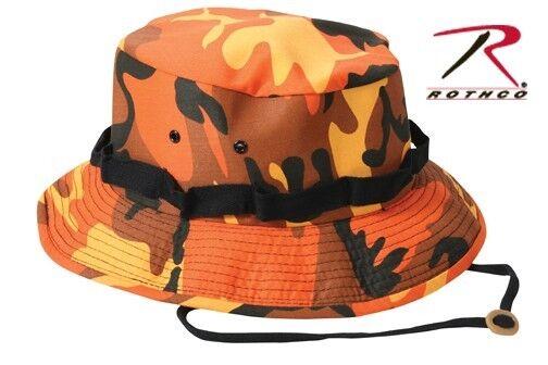 Boonie Hat Camoflauge Rothco Orange Camoflauge Hat Ripstop Fabric 640dfb