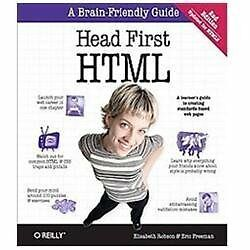 Head First HTML and CSS by Eric Freeman and Elisabeth Robson (2012, Paperback)
