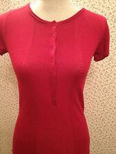 Kookai Stunning Red Cashmere, Wool and Angora Mix Polo Shirt. Size 0 (8) BNWT