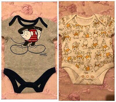 Diligente Disney Mickey Mouse Winnie The Pooh Bambino Gilet Bundle Taglia 0-3 Mesi-mostra Il Titolo Originale