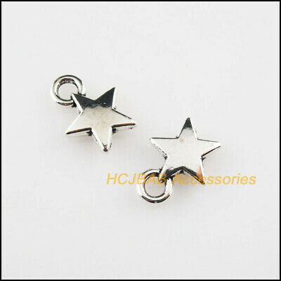 25Pcs Antiqued Silver Tone Smooth Female Logo Charms Pendants 8.5x18mm