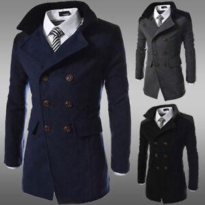 Mens-Pea-Coat-Warm-Wool-Blend-Double-Breasted-Dress-Jacket-Peacoat-Outwear-Tops