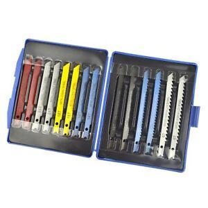 14pc Jigsaw Blade Set U Tige Montage Jig Saw Lames Métalliques Black & Decker Te770-afficher Le Titre D'origine Assurer IndéFiniment Une Apparence Nouvelle