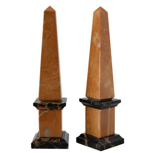 Obelisco Classico Marmo Giallo e Nero Portoro Italian Marble Obelisk Home H.25CM