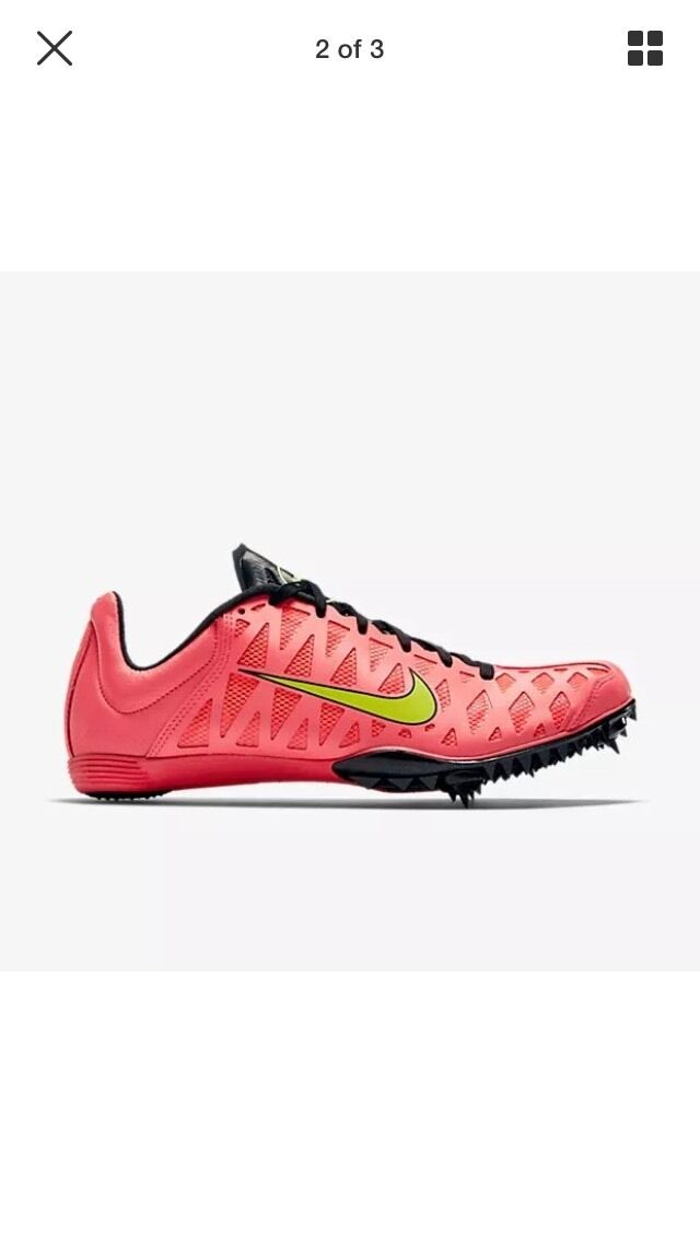 NIKE ZOOM Maxcat 4 Track Running Shoe Spikes 549150 603 Mens 11.5 Hyper PUNCH