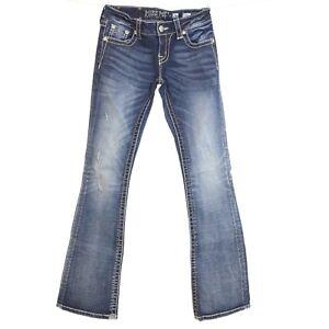 Jd1103bv Distressed Denim B1 Blue 26 Cut Boot Jeans Sz Me Impreziosito Miss New fzYqxpw